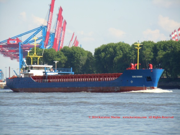 MV EEMS SERVANT (Multipurpose Vessel, 2,200 DWT, 2010 built, Hamburg departure, May 2014)