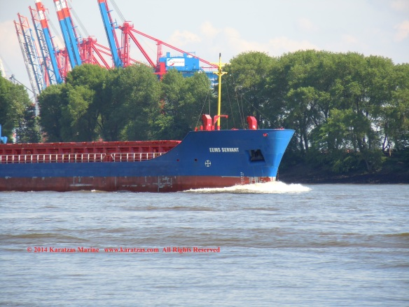 MV EEMS SERVANT (Multipurpose Vessel, 2,600 DWT, 2010 built, Hamburg departure, May 2014)