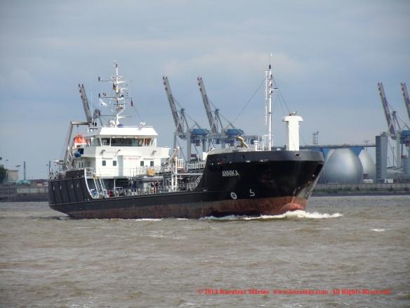MT 'ANNIKA' (1,600 DWT Bunkering Tanker, built in 2012)