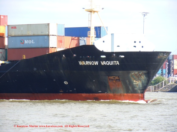 MV 'WARNOW VAQUITA' (1,300 TEU containership built in 2008)